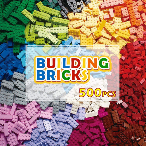 200-1000 Pcs Building Blocks City DIY Creative Bricks Model Constructor Educational Kids Toys For Children