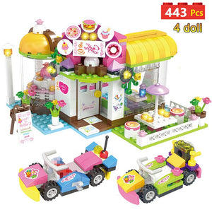 Heartlake City Playground Resort Building Blocks Compatible Friends Stacking Bricks Creative Toys For Girls Children