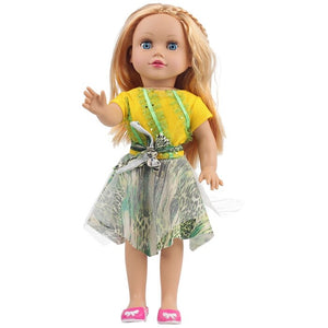 JULY'S SONG 45CM Baby Dolls Full Silicone Toys For Girls Cute Sleeping Accompany Doll Beautiful Birthday Present For Kids