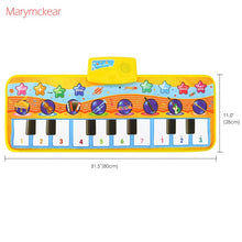 Load image into Gallery viewer, 80x28CM Baby Music Piano Play Mat Multi-function with Instrument Sound Demo Songs Cloth Musical Carpet Educational Toys for Kids