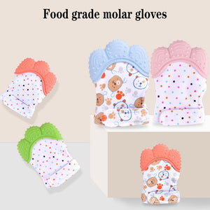 Baby Teether Baby Anti-Bite Silicone Molar Gloves Children'S Sound Toys Birth Toddler Toys For Newborns