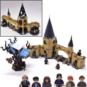 Hut Castle House Mini Animals Figures Building Blocks Bricks Christmas Toys for Children Gifts