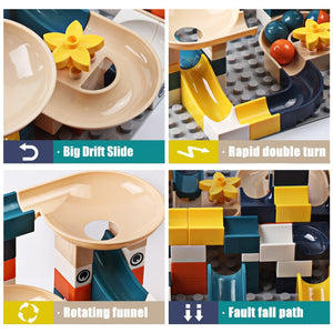 83-332PCS Big Size Funnel Slide Marble Race Run Building Blocks Toys Kids  DIY Educational Toys for Children Gifts