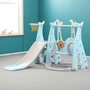 Baby Swing Chair Music Slide Combination Shoot Basketball Story Music Learning Machine Cartoon Set Kids Gift Toys for Baby Child