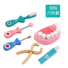 Load image into Gallery viewer, Kids Pretend Play Toy Dentist Check Teeth Model Set Medical Kit Educational Role Play Simulation Learing Toys For Children