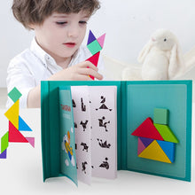 Load image into Gallery viewer, New Magnetic Puzzle 3D Jigsaw Tangram Games Wooden Montessori Educational Toy Learning for Kids Girls Children Baby Gift Hot