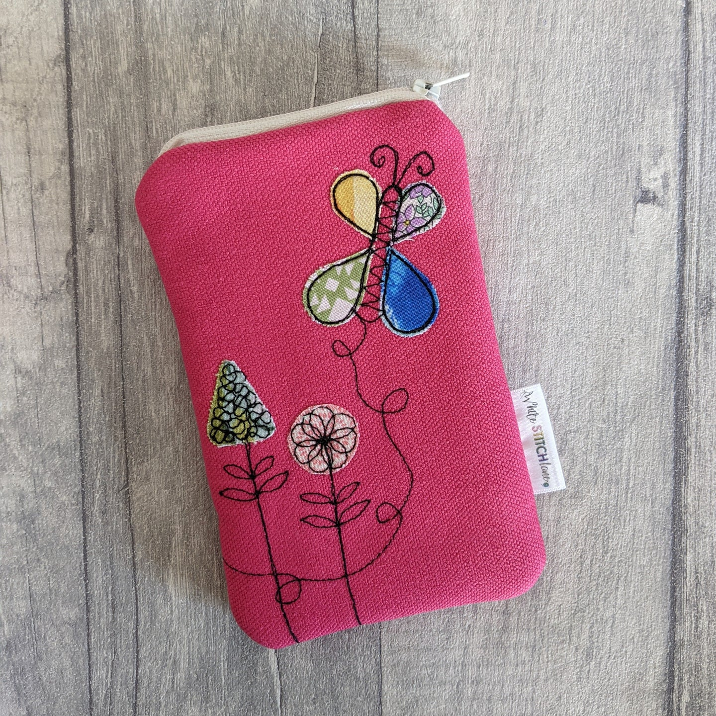 Butterfly & Flowers Glasses Case