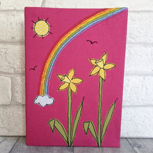 Load image into Gallery viewer, A5 Daffodil & Rainbow notebook