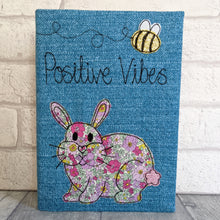 Load image into Gallery viewer, A5 Bunny 'Positive Vibes' Notebook
