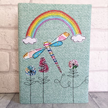 Load image into Gallery viewer, A5 Dragonfly & Rainbow notebook