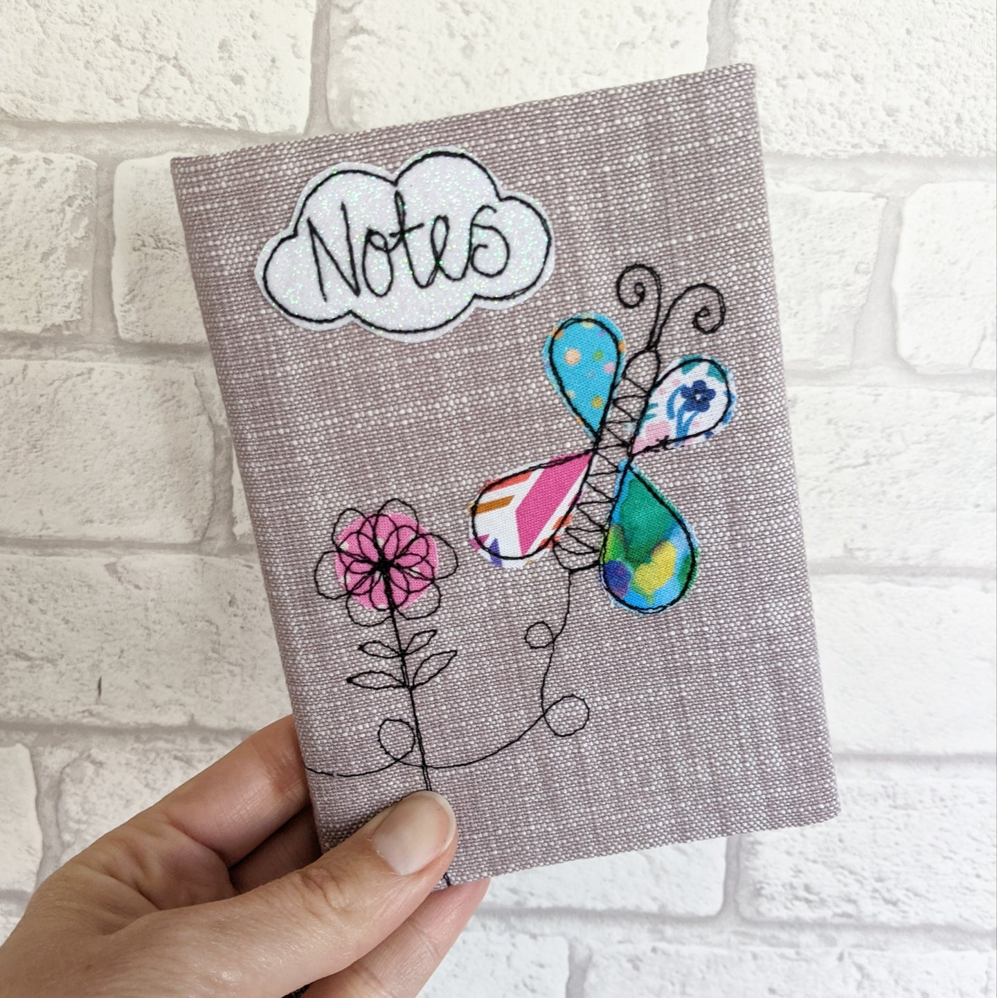 A6 butterfly & flowers Notebook