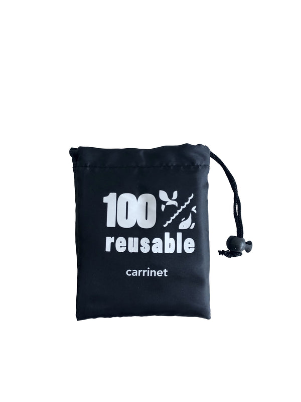 "Shop Bag - ""100% Reusable"" SVART"
