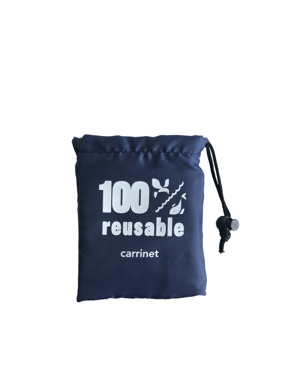 "Shop Bag - ""100% Reusable"" BLÅ"