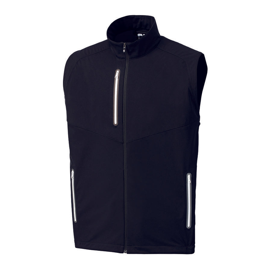 FootJoy Men's Full-Zip Lightweight Softshell Vest Black