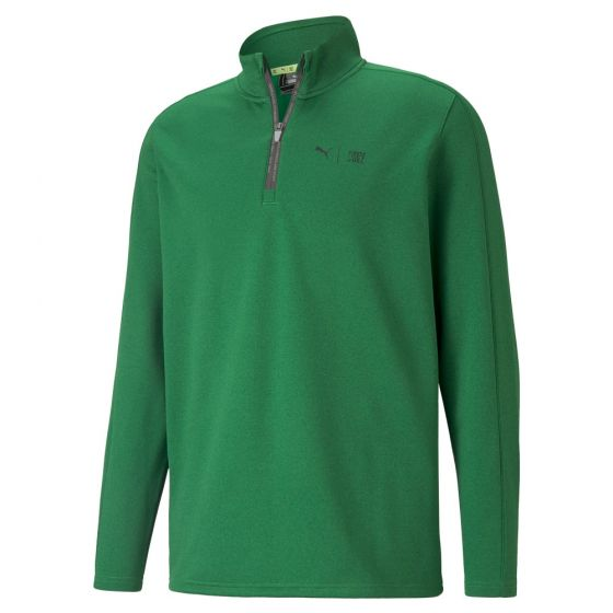 First Mile Flash 1/4 Zip Green