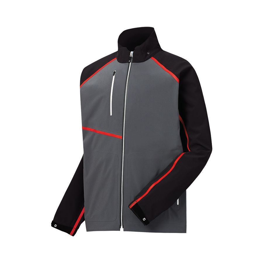 FootJoy Men's Hydrotour Rain Jacket Charcoal/Red