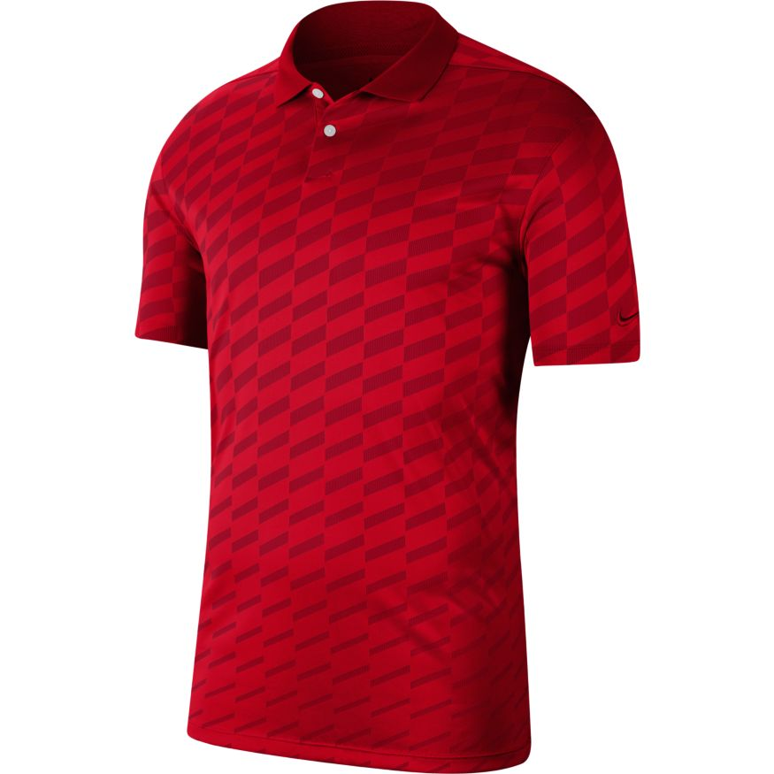 Nike Dri-FIT Vapor Wing Golf Polo Gym Red