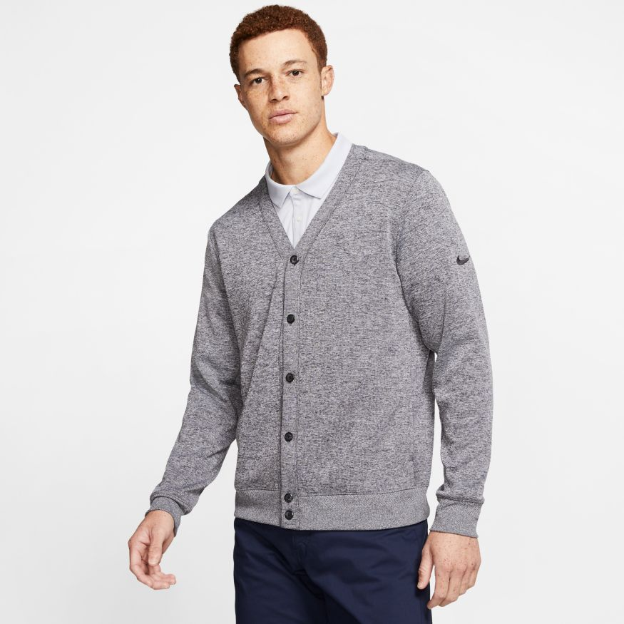 Nike Dri-Fit Player Men's Golf Cardigan Grey