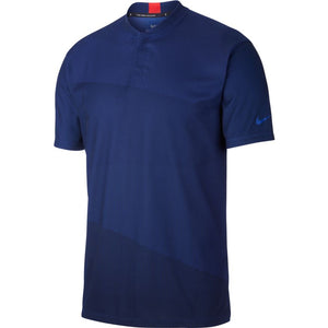 Nike Dri-Fit Tiger Woods Blade Collar Golf Polo Deep Royal Blue