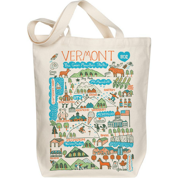 Vermont Boutique Map Art Tote