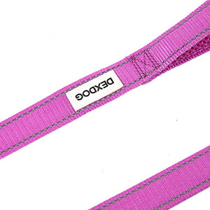 DEXDOG Dog Leash Matching Padded Strong Short Walking Leash for Dogs, Puppy Leash, Pet Leash | Puppy Supplies & Dog Accessories for Small Dogs