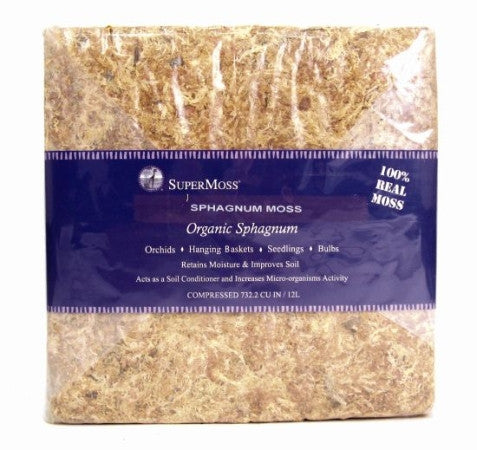 Moss - Sphagnum Moss - 732 cubic inch bag compressed