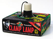 Deluxe Black Ceramic Clamp Lamp 8.5 in.