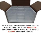 Square Show and Shipping Cups, 24 oz.