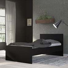 Load image into Gallery viewer, Naia Single Bed 90 x 190cm Black Matt