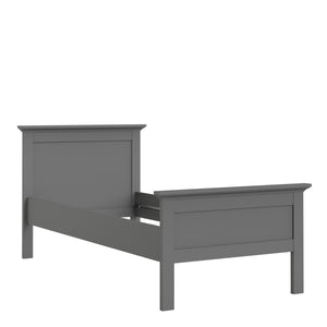 Single Bed 90 x 200cm Matt Grey