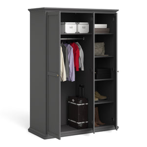 Wardrobe with 3 Doors in Matt Grey