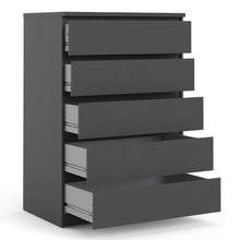 Load image into Gallery viewer, Chest of 5 Drawers Black Matt