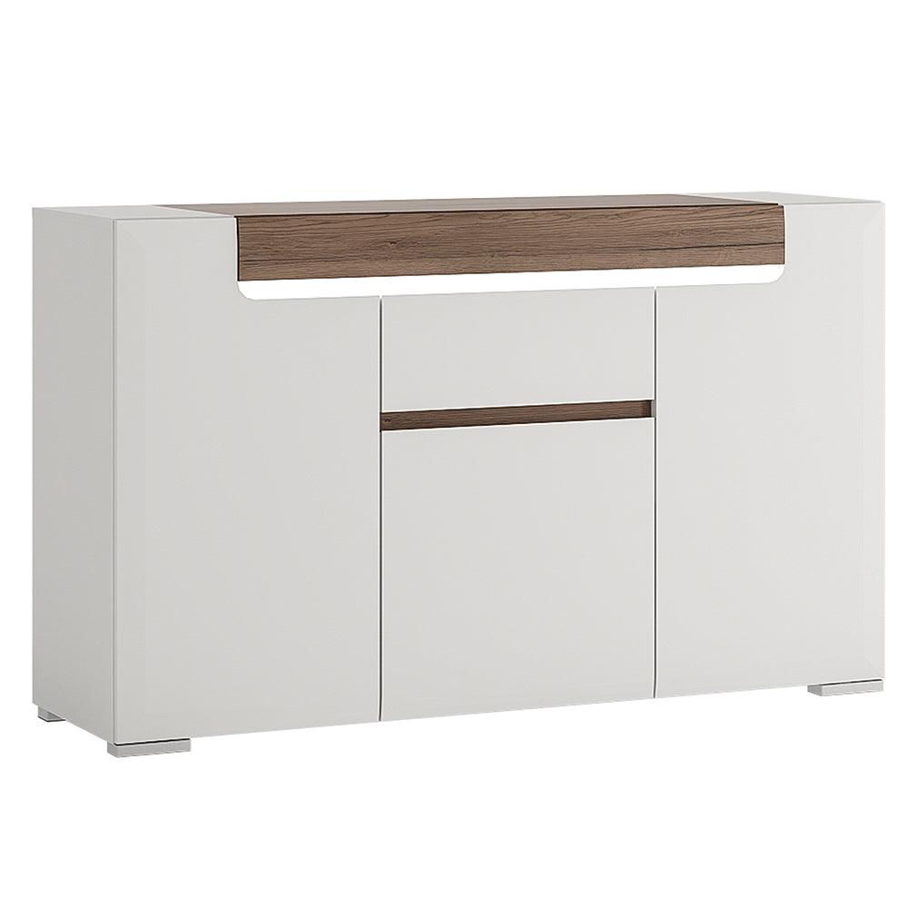 3 Door 1 Drawer Sideboard inc. Plexi Lighting