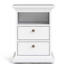 Load image into Gallery viewer, Bedside 2 Drawers White