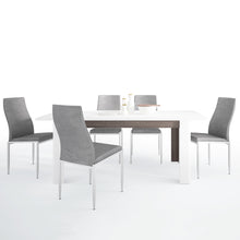 Load image into Gallery viewer, Dining Set Package Chelsea Living Extending Dining Table 4 Milan High Back Chair Gray
