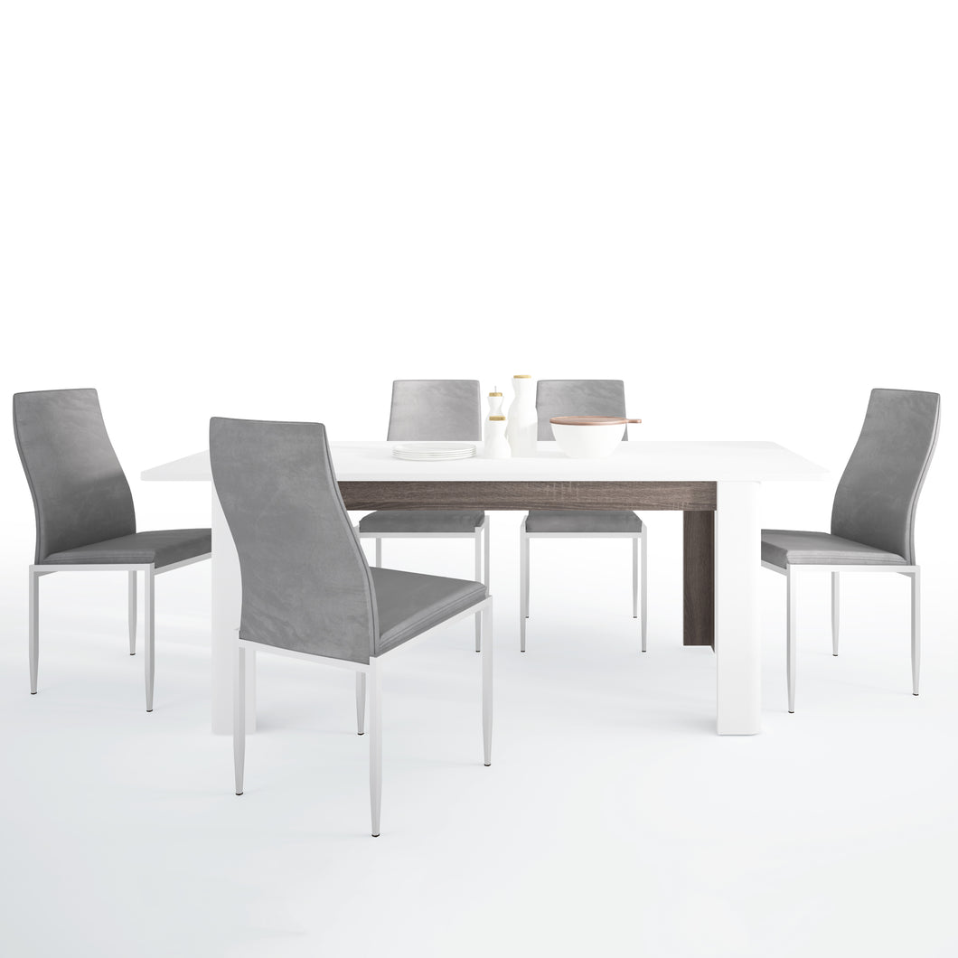 Dining Set Package Chelsea Living Extending Dining Table 4 Milan High Back Chair Gray