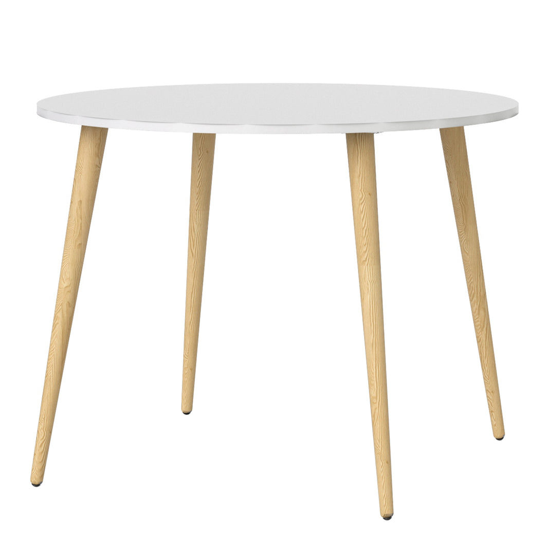 Dining Table Small 100cm White and Oak