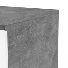 Load image into Gallery viewer, Naia Chest of 3 Drawers in Concrete and White High Gloss