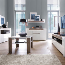 Load image into Gallery viewer, 3 Door Sideboard with Open Shelving inc. Plexi Lighting