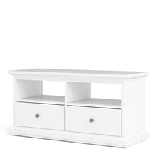 Load image into Gallery viewer, Tv Unit 2 Drawers 2 Shelves in White