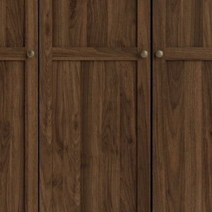 Wardrobe With 4 Doors In Walnut