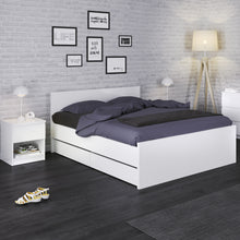 Load image into Gallery viewer, Double Bed 140 x 190cm White High Gloss