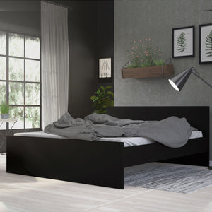 Euro King Bed 160 x 200cm Black Matt