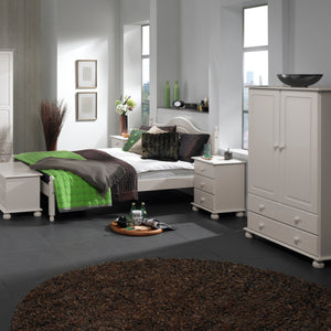 3 Drawer Bedside White