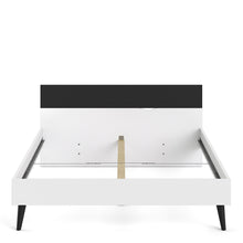 Load image into Gallery viewer, Oslo Euro King Bed 160 x 200cm White and Black Matt