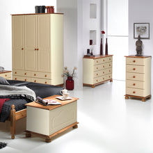 Load image into Gallery viewer, 2 Door 2 Drawer Combi Robe Cream and Pine