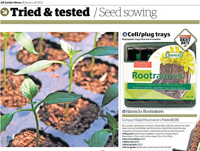 haxnicks- compact Rootrainers- 2 Best Buy awards in the same month- gardening Best Buy - award winning gardening tool