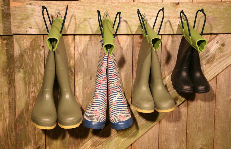 Haxnicks Bootclamp the perfect way to store & carry wellies sum boots