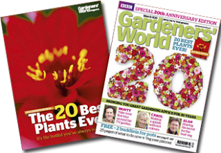 haxnicks- 20th anniversary edition of gardeners world feauture- gardening magazine