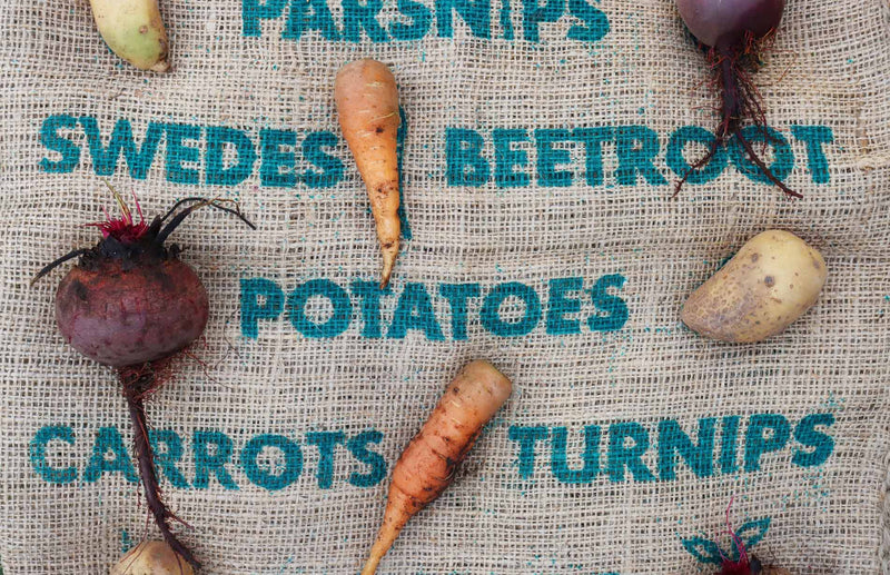 natural jute sacks the best way to store potatoes, carrots, beetroot and other root veg
